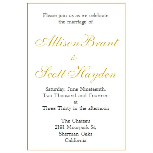 Invitation Template - 15+ Free PSD, Vector, EPS Format Download - free printable wedding invitation templates for word