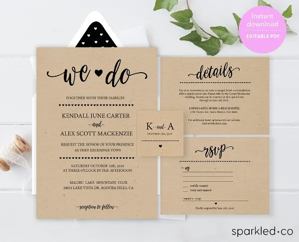 Wedding Invitation Template - 17+ Free PSD, Vector EPS, PNG Format