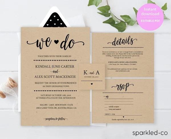 Wedding Invitation Template 17 Free Psd Vector Eps
