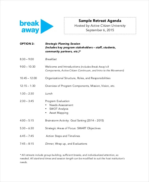12+ Agenda Templates - Free Sample, Example, Format Free  Premium