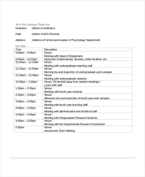 12+ Agenda Templates - Free Sample, Example, Format Free  Premium - agenda examples templates