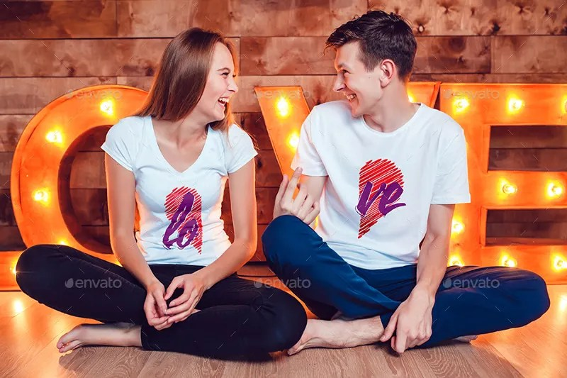 Mockup T Shirt Couple Free 26+ Free Psd T-shirt Mockups For Designers | Free