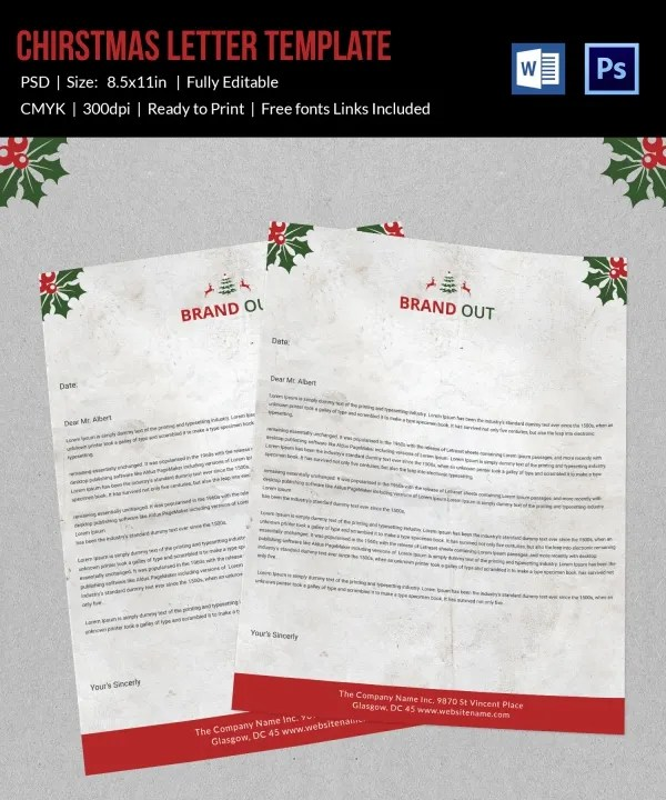 10+ Christmas Letterheads - Word, PSD Format Download Free