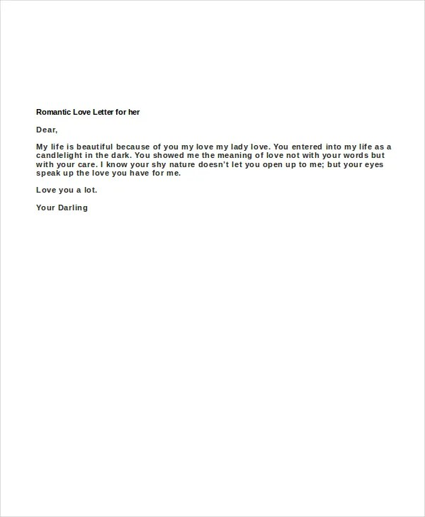 Love Letters For Her - 6+ Free Word Documents Download Free