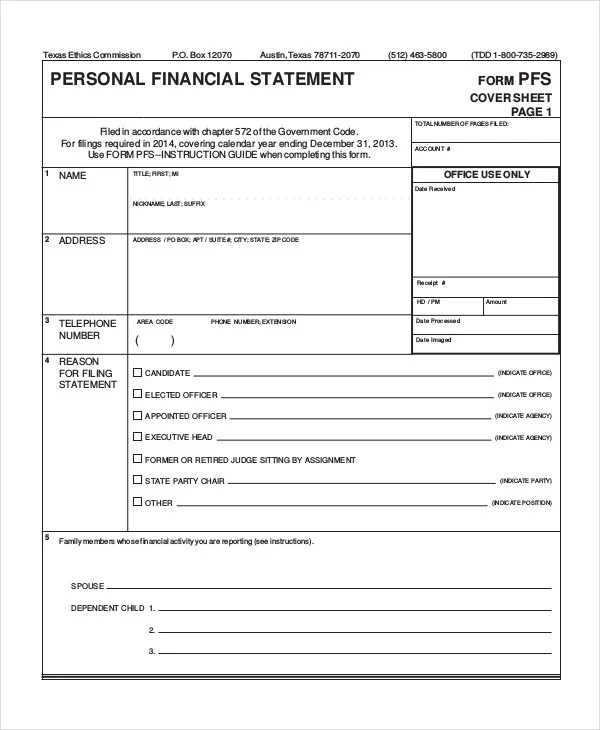 Personal Financial Statement - 9+ Free Excel, PDF Documents Download
