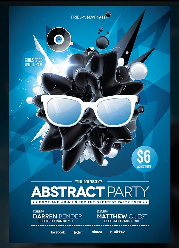 22+ Abstract Flyers - Free PSD Document Download Free  Premium