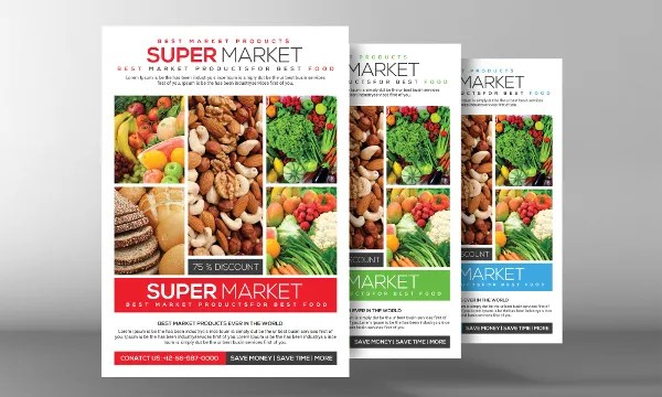 18+ Grocery Flyers - Free PSD, Vecto, AI Illustrator, EPS Format - promotion flyer