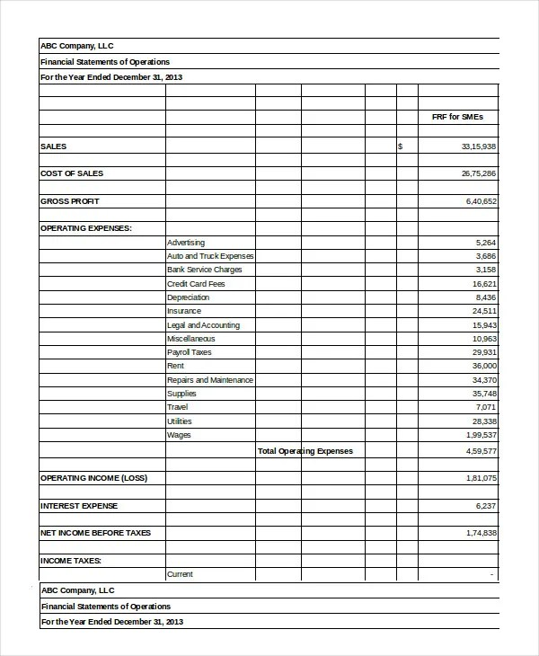 Financial Statement - 20+ Free Sample, Example, Format Free - free financial statement template