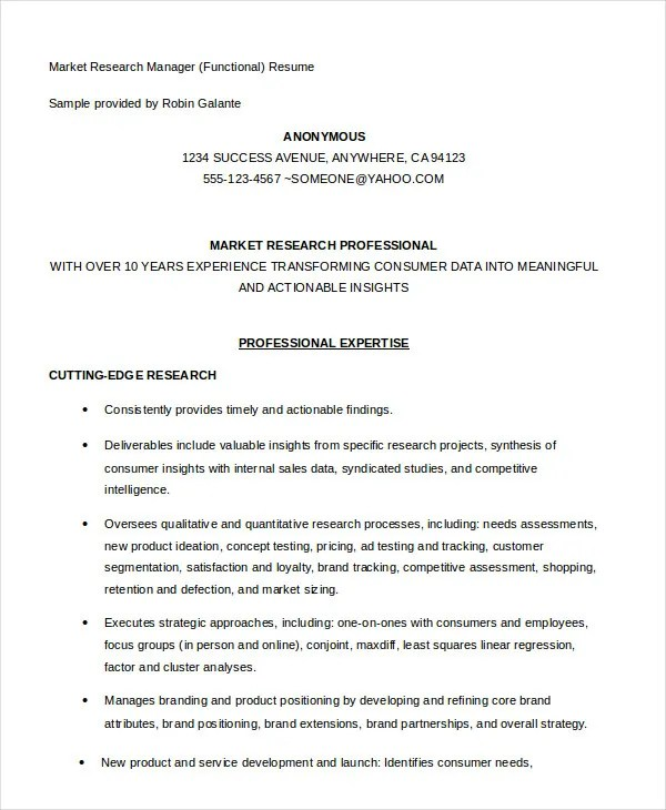 Functional Resume - 8+ Free Sample, Example, Format Free - functional resume example