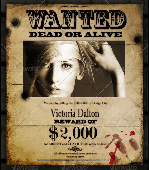 17+ Wanted Posters- Free PSD, AI, Vector EPS Format Download Free
