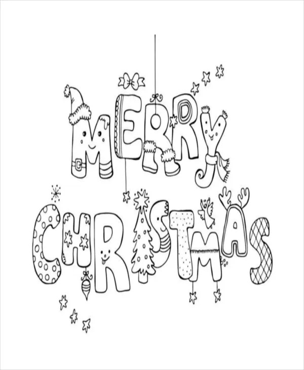 22+ Christmas Coloring Pages - Free PDF, Vector, EPS, JPEG Format