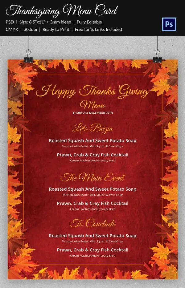 free thanksgiving templates for word
