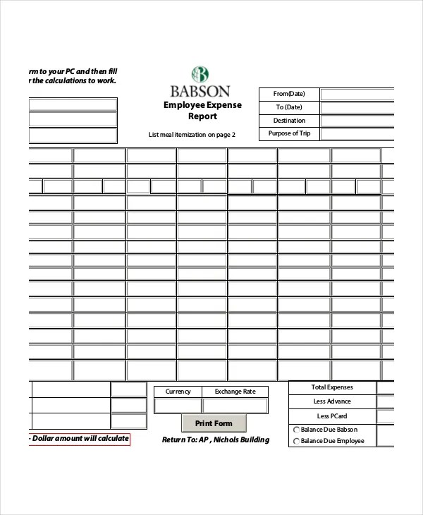 Expense Report - 11+ Free Word, Excel, Pdf Documents - expense sheet