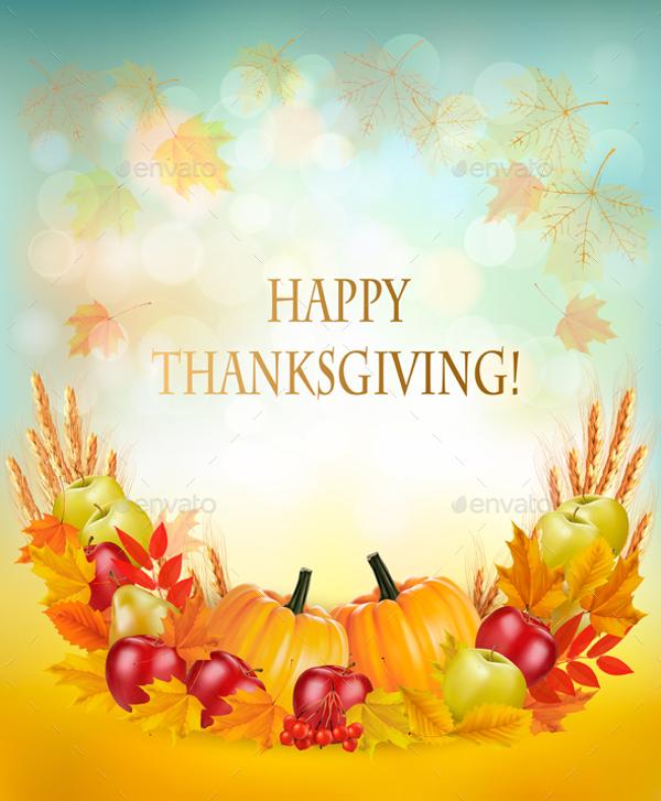 Pumpkin Fall Wallpaper 76 Thanksgiving Templates Editable Psd Ai Eps Format