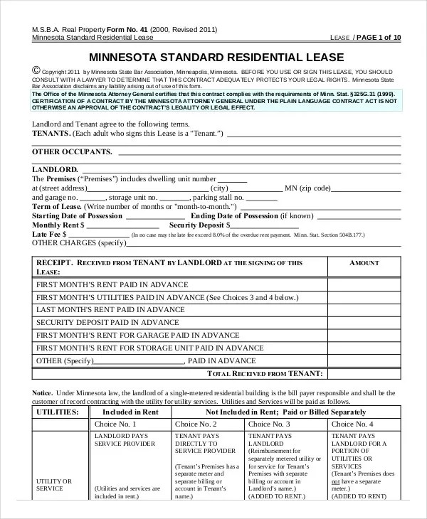 Printable Residential Lease Agreement - 13+ Free Word, PDF Documents - apartment lease agreement free printable
