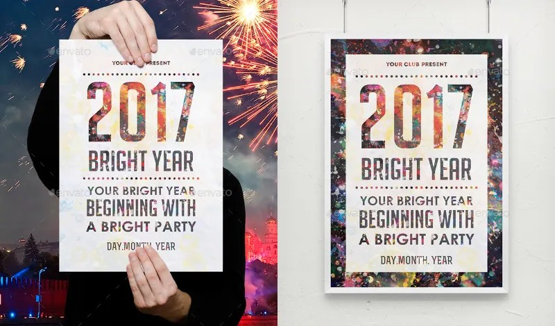 17+ 2017 New Year Posters Free  Premium Templates - new year poster template