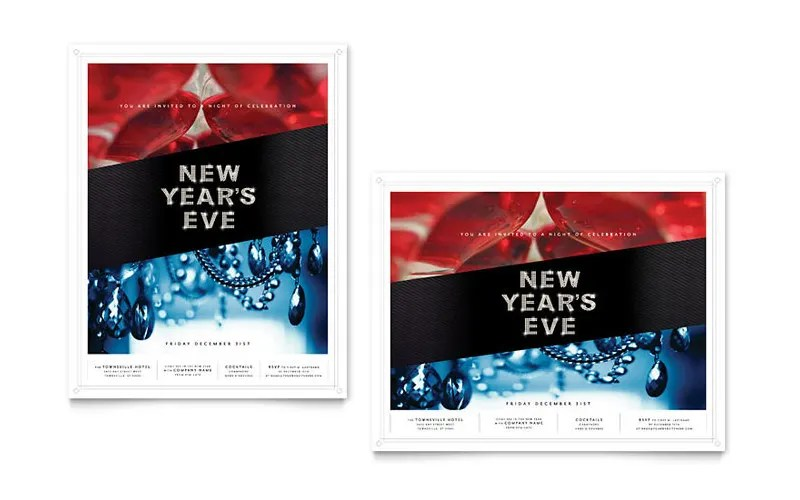 17+ 2017 New Year Posters Free  Premium Templates