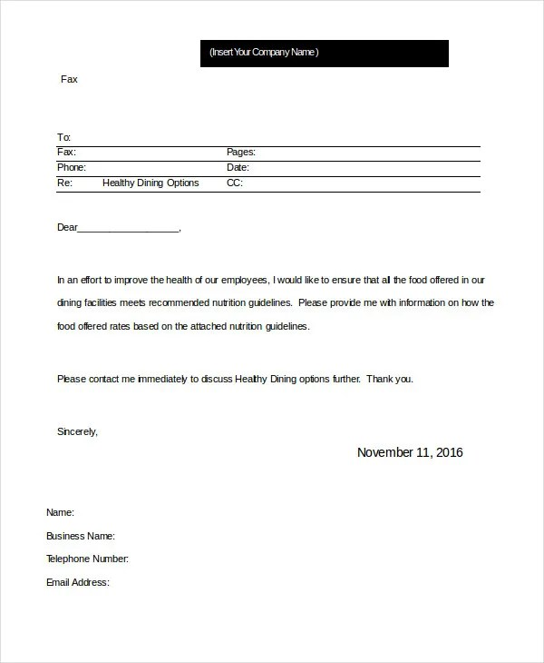 Word Fax Template - 12+ Free Word Documents Download Free