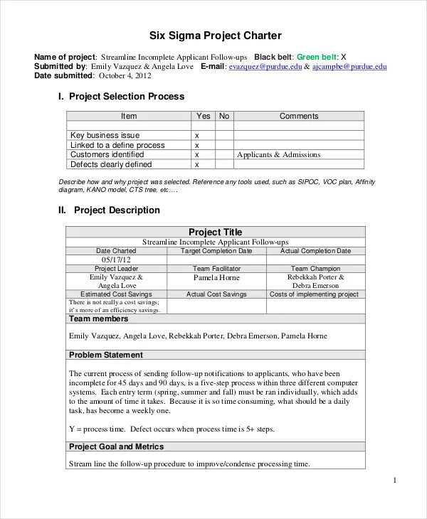 Project Charter Template - 10+ Free Word, PDF Documents Download