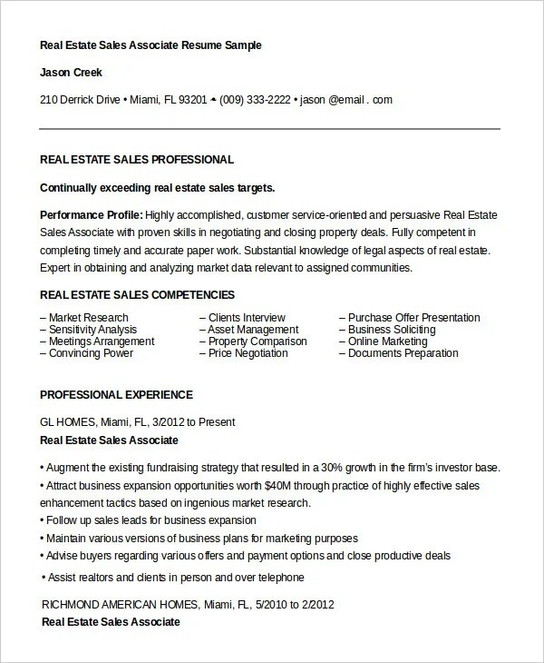 7+ Sales Associate Resume Templates - PDF, DOC Free  Premium - lead sales associate sample resume
