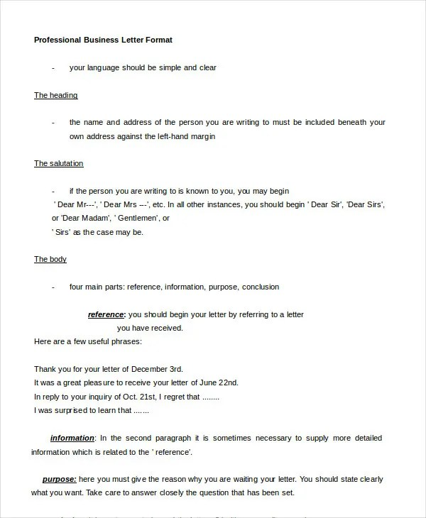 professional business letter - 28 images - 44 business letter format