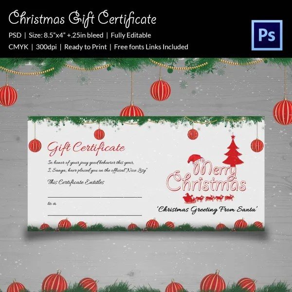christmas gift certificate template psd - Goalgoodwinmetals - christmas gift certificates templates