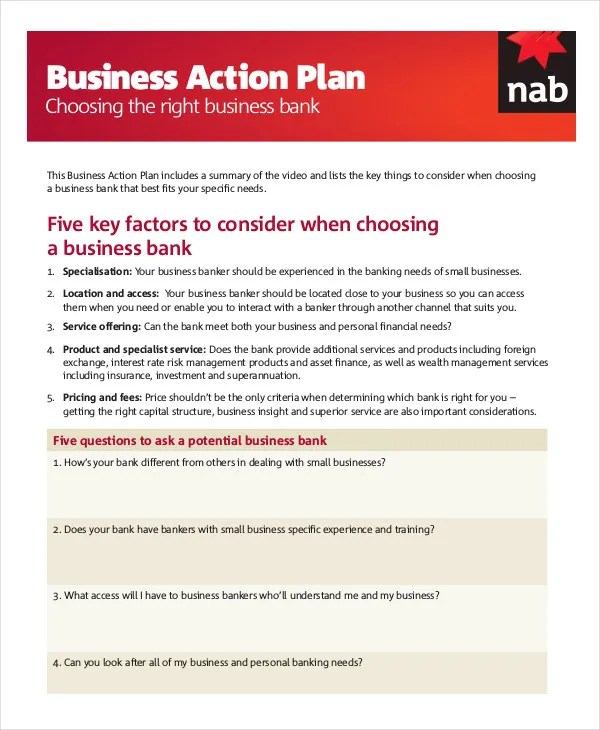 Action Plan Template -20+ Free Sample, Example, Format Free - sample personal action plan