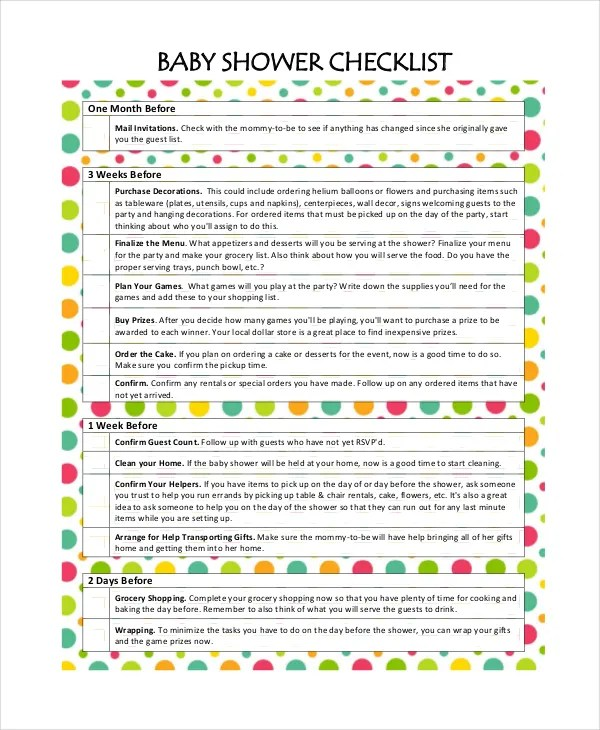 baby shower guest list template | resume-template.paasprovider.com