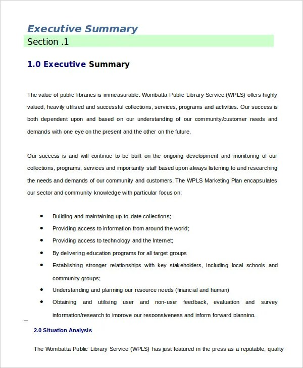 Executive Summary Template - 8+ Free Word, PDF Documents Download