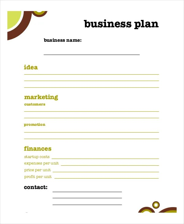 Business Plan Template - 11+ Free Word, PDF Documents Download - business plan templates