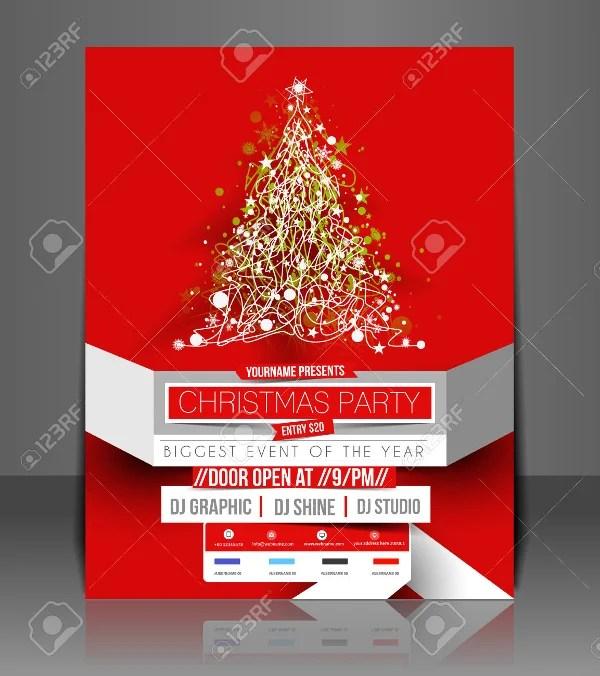 Christmas Flyer Template Festive Christmas Invitation Flyer
