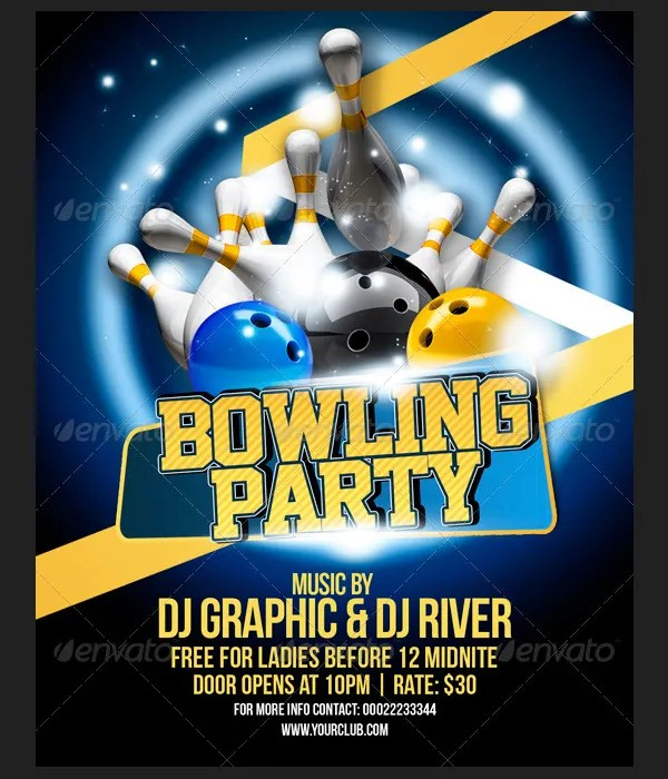 25+ Beautiful Flyer Templates - Free PSD, AI, EPS Format Download - party brochure template