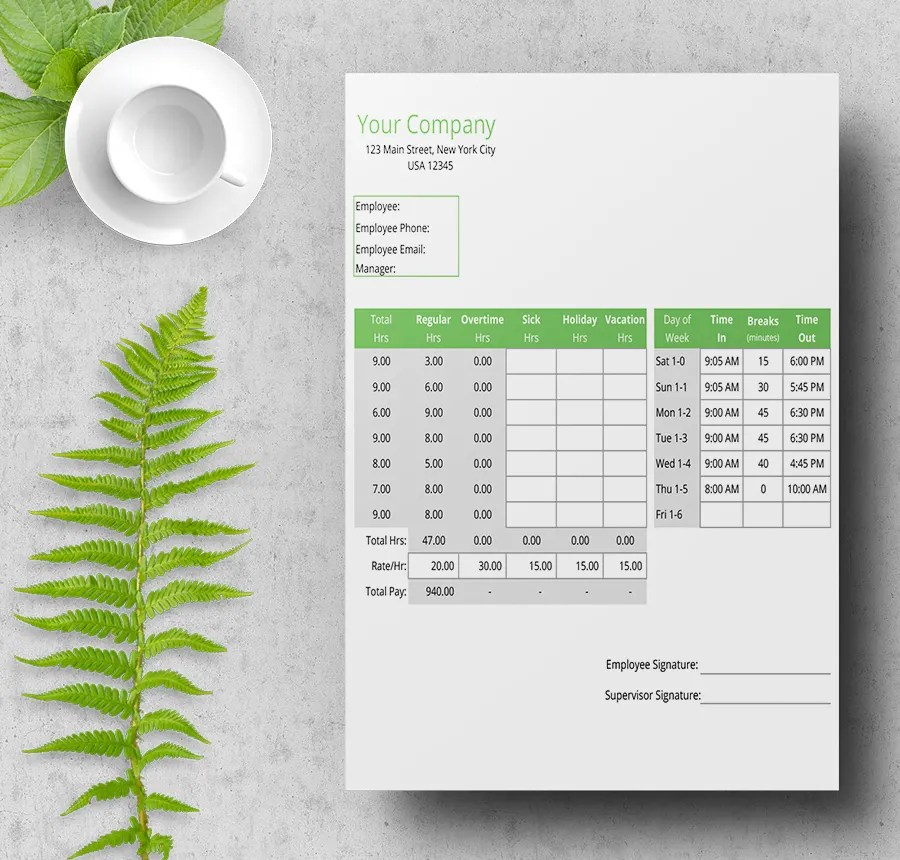 8+ Free Time Sheet Templates - Daily, Monthly, Weekly, Bi-Weekly