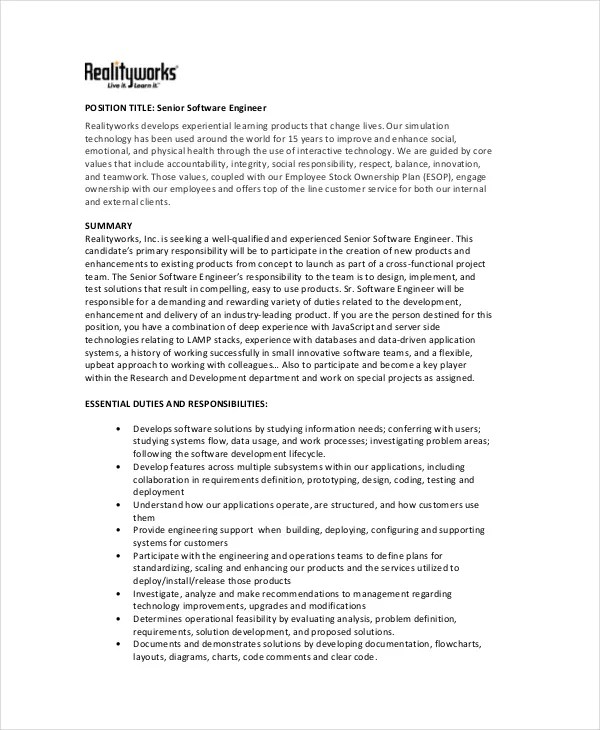 Resume Title For Software Engineer. Good Entry Level Software