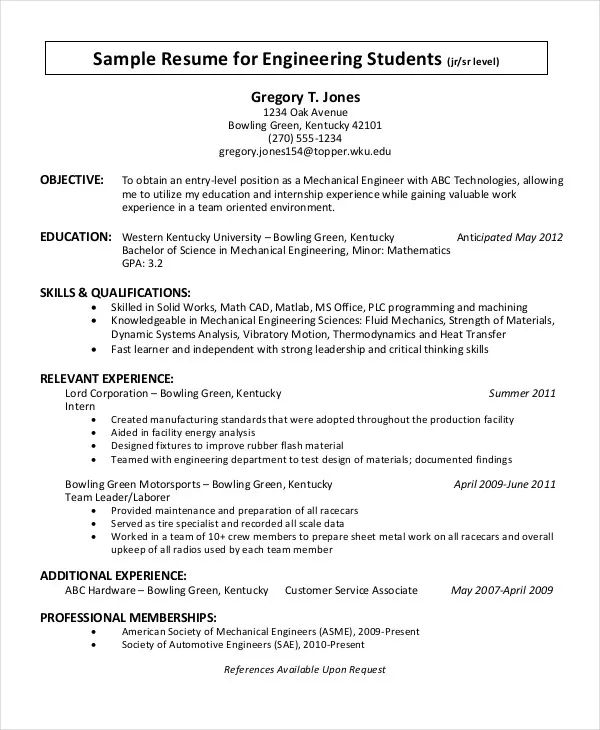 chronological resume doc