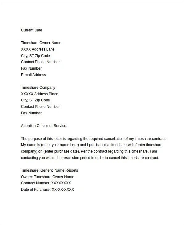 Sample Resignation Letter Template Free Download | Curriculum