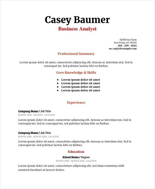 Thesis/Dissertation Writing Graduate School - Illinois State - sample business analyst resume