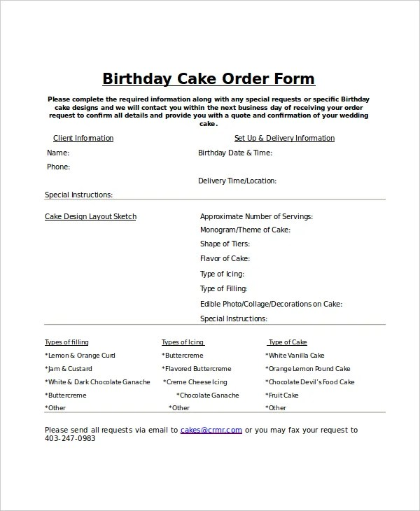 Order Form Template - 12+ Free Word, PDF Documents Download Free