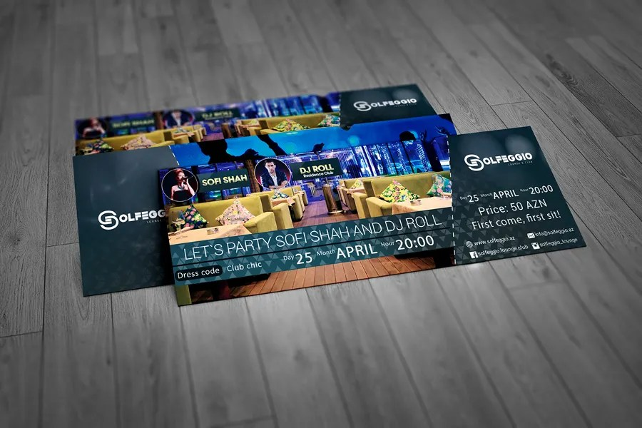 Free psd event ticket template design 2018 - event ticket template free download