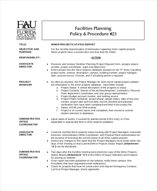 Project Status Report Template - 17+ Free Word, PDF Documents