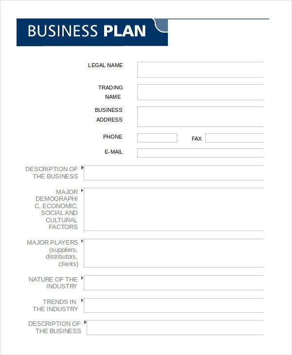 Business Plan Template in Word - 10+ Free Sample, Example, Format - Business Plans Template