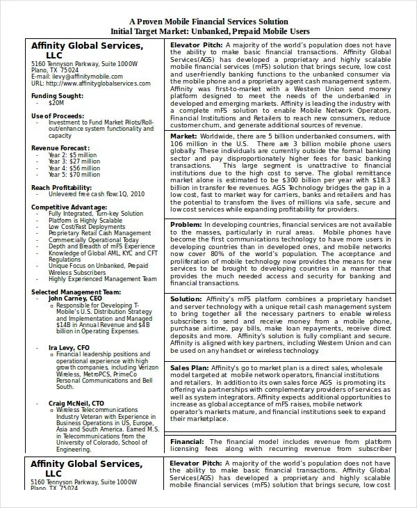 Business Plan Template in Word - 10+ Free Sample, Example, Format