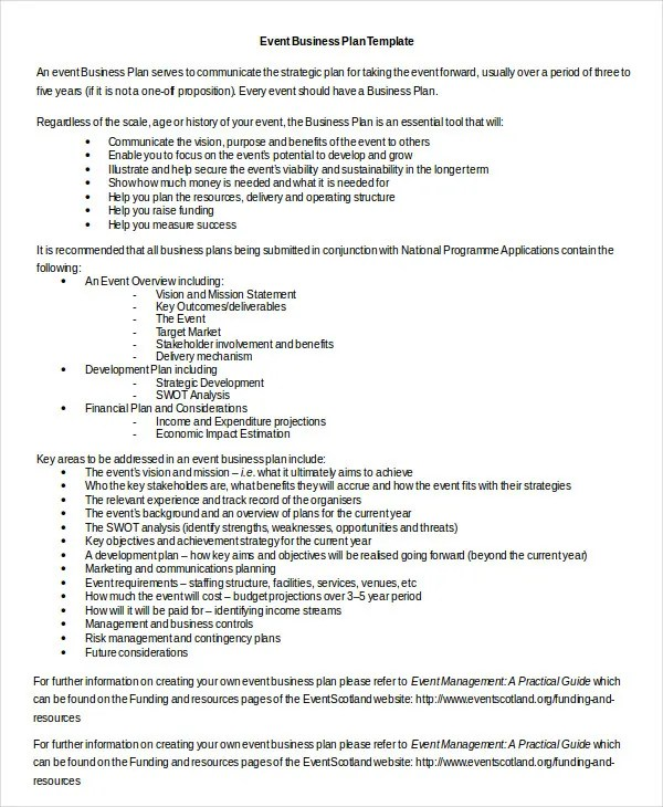 Business Plan Template in Word - 10+ Free Sample, Example, Format - business plan templates