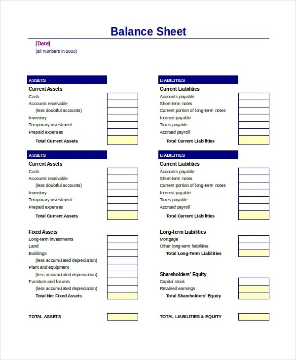 sample balance sheet xls - Onwebioinnovate