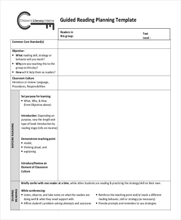 Lesson Plan Template - 17+ Free Word, PDF Documents Download Free - sample guided reading lesson plan template