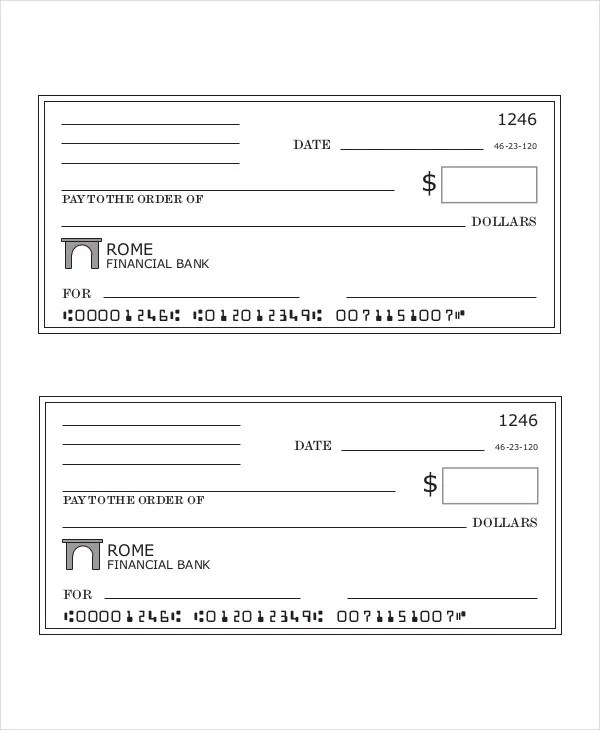 Blank Check Template - 7+ Free PDF Documents Download Free