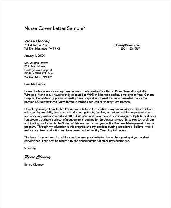 new grad nurse practitioner cover letter