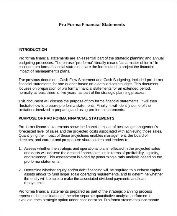 Income Statement - Free PDF, Excel, Word Documents Download Free - projected income statement template