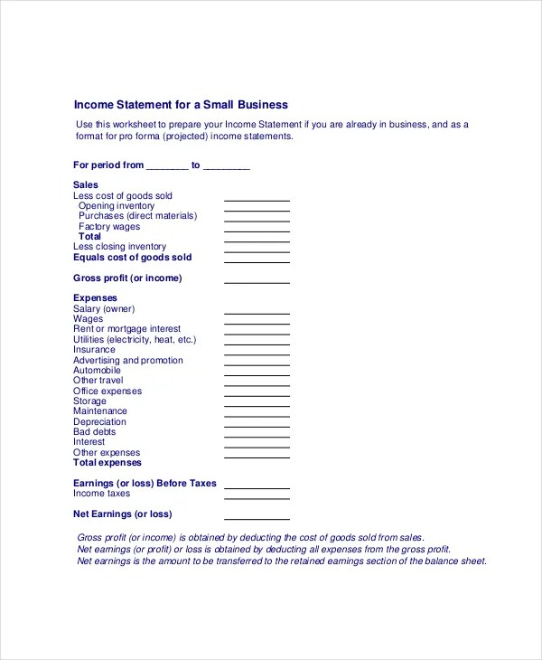 Sample Traditional Income Statement Traditional Income Statement