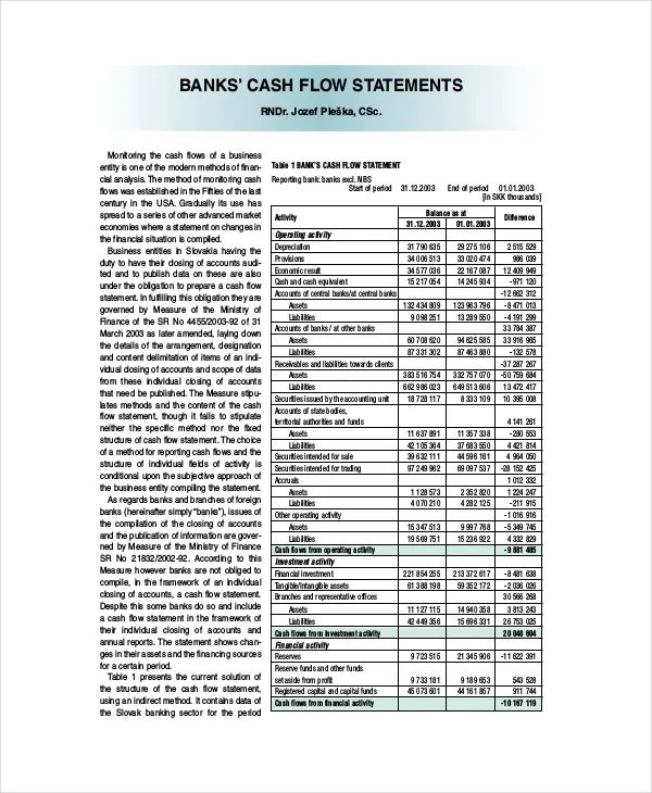 free download of cash flow statement in excel format
